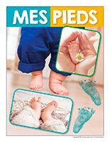 Affiche thematique poupons-Mes pieds
