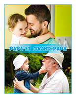 Affiche thématique poupons-Papa et grand-papa