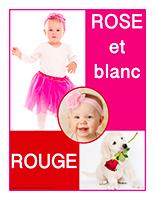 Affiche thématique-poupons-Rouge rose et blanc