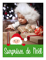 Affiche thematique poupons-Surprise de Noel