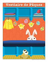 Affiche-vestiaire spécial Pâques