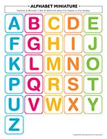 Alphabet-miniature