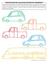 Association de couleurs-Moyens de transport