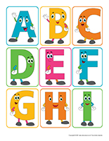 Autocollants-Alphabet