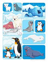 Autocollants-Animaux polaires