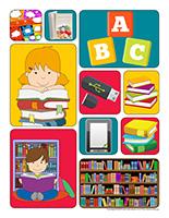 Autocollants-Bibliothèque
