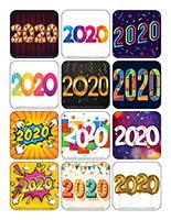 Autocollants-Bonne année 2020