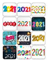 Autocollants-Bonne année 2021