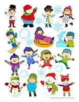 Autocollants-Carnaval d'hiver