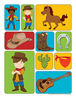 Autocollants-Cowboys