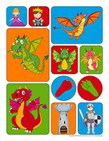 Autocollants-Dragons