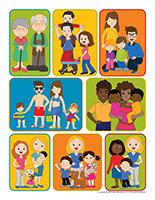 Autocollants-Famille