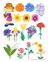 Autocollants-Fleurs bricolage