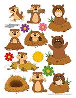 Autocollants-Jour de la marmotte