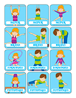 Autocollants-La gymnastique