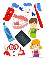 Autocollants-La santé dentaire