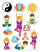 Autocollants-Le yoga