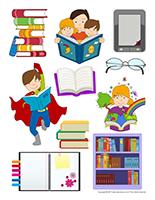 Autocollants-Les livres