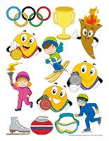 Autocollants-Les olympiades d'hiver
