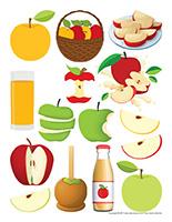 Autocollants-Les pommes