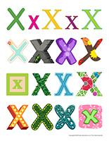 Autocollants-Lettre X