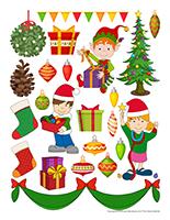 Autocollants-Noël-Les décorations