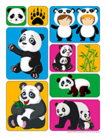 Autocollants-Pandas