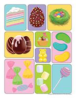 Autocollants-Pâques-Petites douceurs