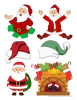 Autocollants-Pères Noël