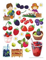 Autocollants-Petits fruits