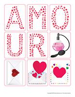 Autocollants-Saint-Valentin-Lettres d'amour