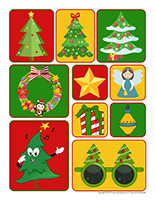 Autocollants-Sapin de Noël