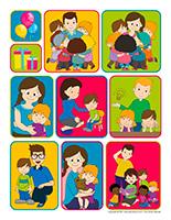 Autocollants-Semaine des services éducatifs en CPE et en milieu familial 2021