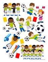 Autocollants-Soccer