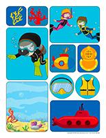 Autocollants-Sous-marins