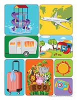 Autocollants-Vacances d'été