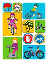 Autocollants-Vélos et tricycles