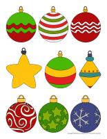 Autocollants-boules de Noël