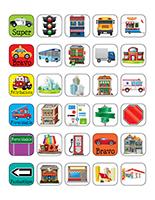 Autocollants miniatures pour récompenses-La ville