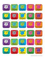 Autocollants miniatures pour récompenses-Les hippopotames