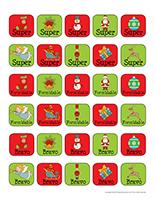 Autocollants miniatures pour récompenses-Noël