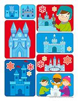 Autocollants pour récompenses-Châteaux de neige