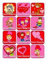 Autocollants pour récompenses-La Saint-Valentin