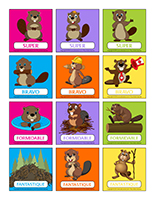 Autocollants pour récompenses-Les castors