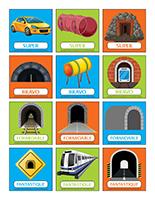 Autocollants pour récompenses-Les tunnels