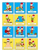 Autocollants pour récompenses-Noël des campeurs