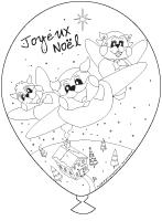 Ballons - Noël - Poni