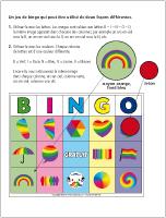 Bingo-Juillet multicolore