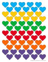 Boite cœurs colorés