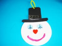 Bonhomme de neige paix, amour, bonheur-1